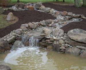 Water features ecosystem ponds waterfalls stream for Pond stream design