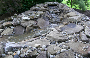 Baltimore Maryland Waterfall Pond Installation