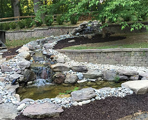 Waterfall Pond & Stream Installation Maryland